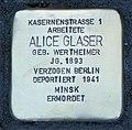 Stolperstein für Alice Glaser, Clara-Zetkin-Straße 1, Chemnitz (1).JPG