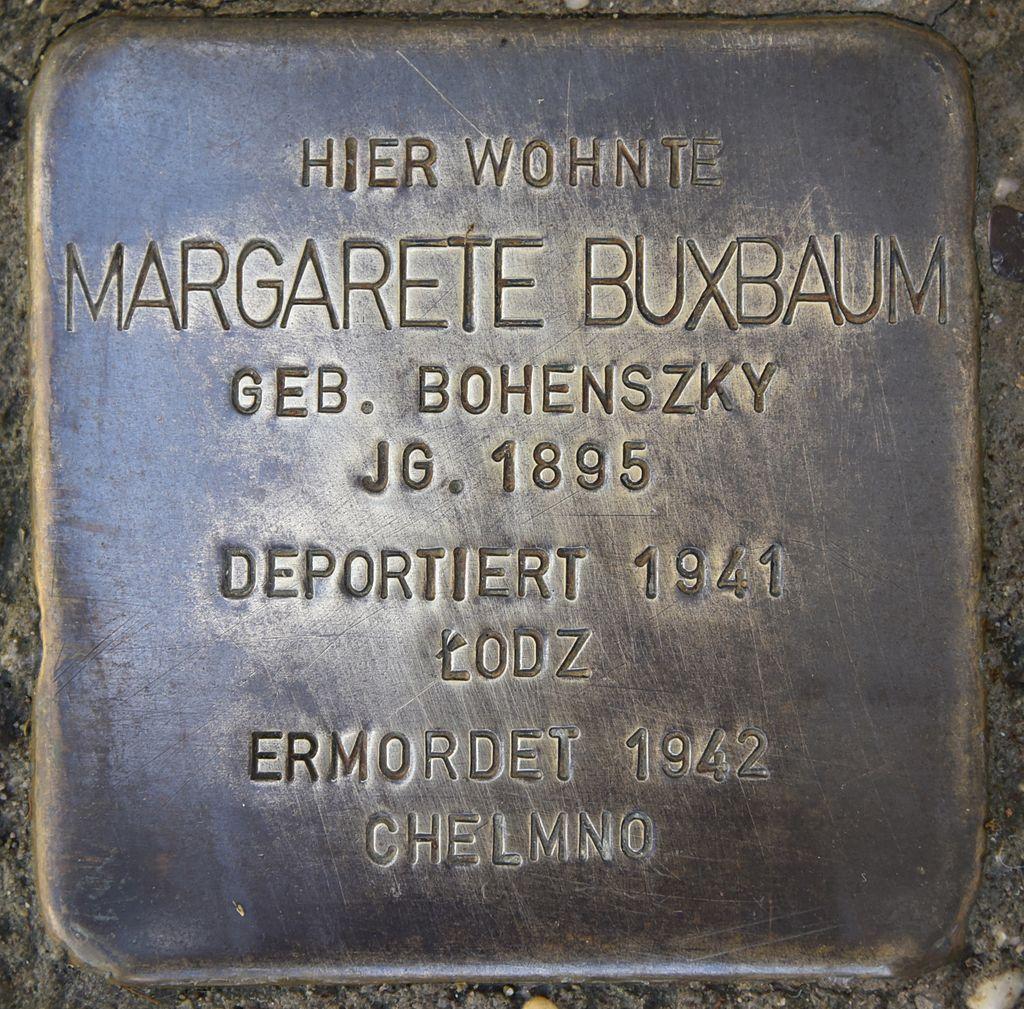 Stolperstein für Margarete Buxbaum.JPG