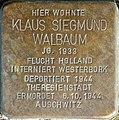 Stolpersteine Aachen, Klaus Siegmund Walbaum (Krefelder Straße 16).jpg