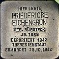 Stolpersteine Köln, Friedericke Eichengrün (Lübecker Straße 22).jpg