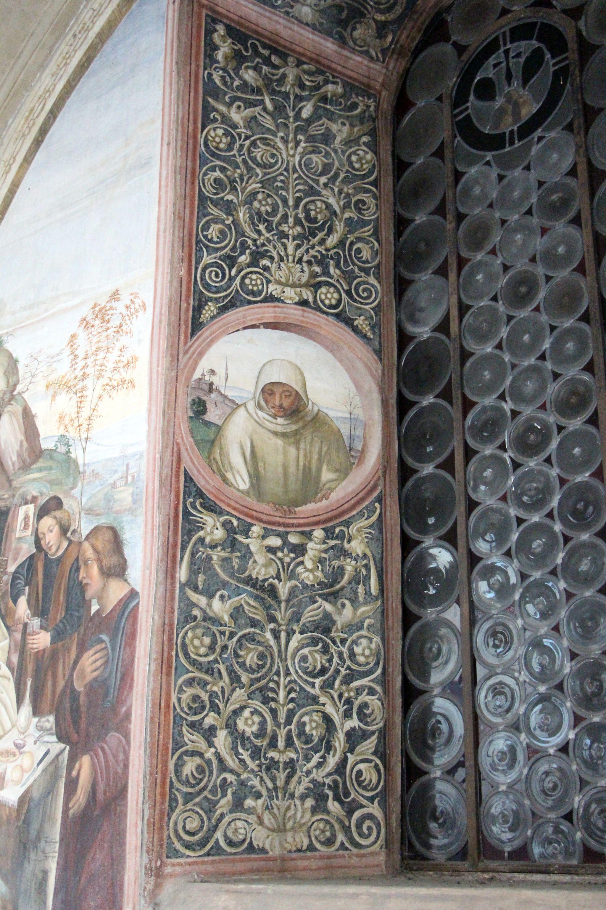 Storie di s. benedetto, 06 sodoma - Come uno prete ispirato da dio porta da mangiare a Benedetto nel giorno di pasqua 03