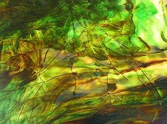 Tiffany glass - Streamer glass