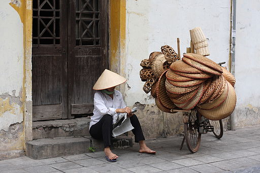 Street vendors in old quarter, Hanoi, Vietnam