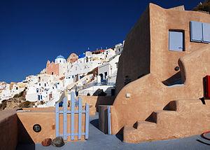 Streets of Firostefani, Santorini island (Thira), Greece-2