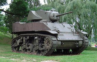 M3 Stuart - M5A1 on display at CFB Borden Military Museum