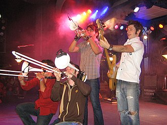 Suburban Legends - Suburban Legends playing at Tomorrowland Terrace in 2006. (LtR: Phillip Inzerillo, Brian Robertson, Luis Beza, Mikey Hachey)