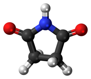 Succinimide - Image: Succinimide 3D ball