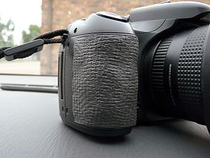 Sugru - Sugru used to repair damaged grip on camera. Textured using fiberglass mesh before curing was complete.