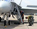 Suiting up to fly the CF-18 (14544226894).jpg