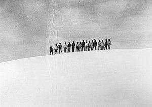 Puncak Trikora - On the summit of Wilhelminatop, first ascent 21 February 1913. By Alphons Franssen Herderschee