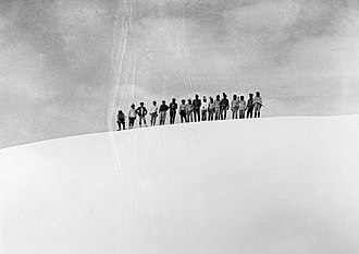 Puncak Trikora - On the summit of Wilhelminatop, first ascent 21 February 1913. By Alphons Franssen Herderschee