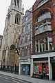 Sunday Post building and St Dunstan-in-the-West, Fleet Street, London 1.jpg