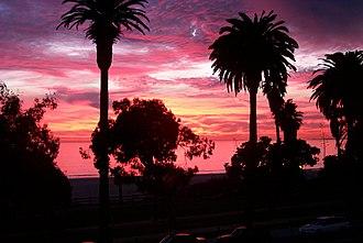 Santa Monica State Beach - Sunset at Santa Monica Beach