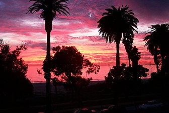 Sunset In Santa Monica California