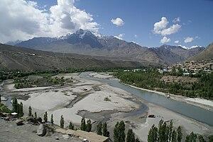Suru River (Indus) - Suru River at Kargil town