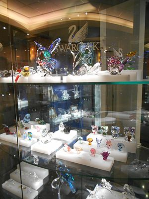 Swarovski - The Swarovski Crystal range includes crystal glass sculptures and miniatures, etc.