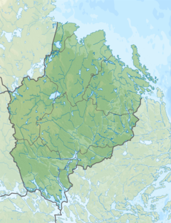 Sweden Uppsala relief location map.png