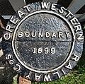 Swindon & Cricklade Railway ... GREAT WESTERN RAILWAY Cos BOUNDARY 1899 (5627493983).jpg