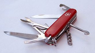 Pocketknife - A Victorinox Swiss Army knife.