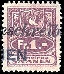 Switzerland Saanen revenue stamp 1Fr - 7.jpg