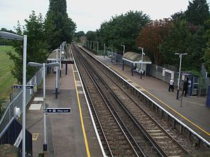 Syon Lane railway station - Image: Syon Lane stn high westbound