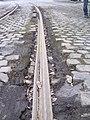 Szeged 4-es villamos törött sín 2011-02-19.JPG