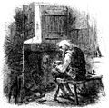 T2C. Dr Manette making shoes in his cell (John McLenan).jpeg
