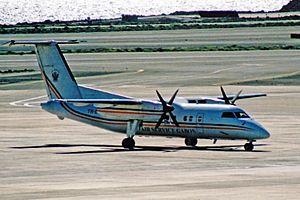 Air Service Gabon - A Dash 8-100 at La Palma in 2003.