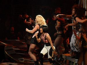 "Till the World Ends - Spears and Minaj performing The Femme Fatale Remix of ""Till the World Ends"" at the Femme Fatale Tour."