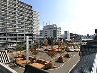 Takada station square.JPG