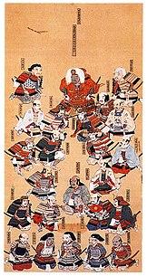 24 vassals of daimyo Takeda Shingen