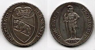 Berne thaler - Thaler. 1798.
