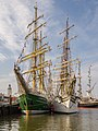 Tall Ship races Harlingen 2014 - Alexander von Humboldt II and Sorlandet in the back Stad Amsterdam.jpg