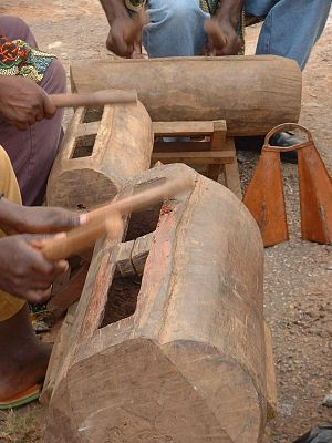 Music of Cameroon - Bamileke drummers in Cameroon's West Province.