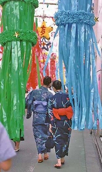 Tanabata - Women dressed in yukata at Tanabata