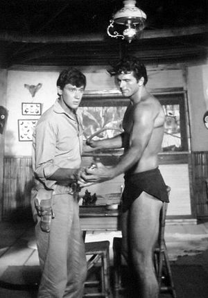 Tarzan (1966 TV series) - Andrew Prine with Ron Ely as Tarzan (1966)