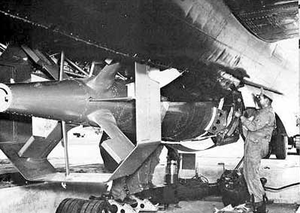 ASM-A-1 Tarzon - Tarzon being loaded on a B-29 of the 19th Bomb Group