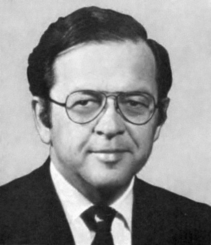 Stevens's Congressional portrait for the 95th United States Congress, 1977 Ted Stevens 1977.jpg