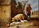 Teniers, David the younger - A Sow and her Litter - Google Art Project.jpg