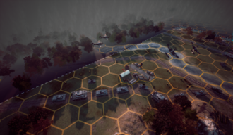 Panzer General - Panzer Strategy - the screen of the test level.