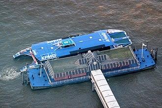 London Bridge City Pier - Image: Thames Clipper at London Bridge City Pier