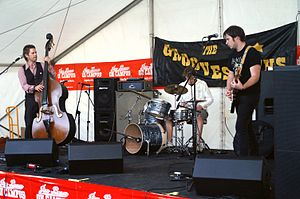The Groovesmiths performing at Curtin University in August 2007.