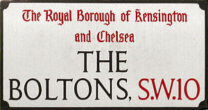 The Boltons - Image: The Boltons street sign