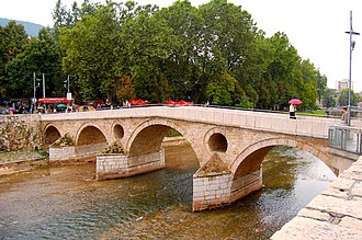 Miljacka - Image: The Bridge, site of the beginning of world war I