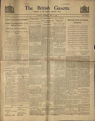 British Gazette - Image: The British Gazette No 2