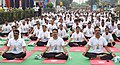 The Central Industrial Security Force (CISF) personnel performing Yoga, on the occasion of the 3rd International Day of Yoga – 2017, in New Delhi on June 21, 2017.jpg