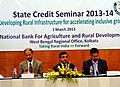 The Chief General Manager, NABARD, Shri S. Padmanavan at the State Credit Seminar, 2013-14 convened by NABARD, at Kolkata. The Chief General Manager, Reserve Bank of India, Shri S. Bhattacharya and the General Manager.jpg