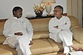 The Chief Minister of Jharkhand, Shri Arjun Munda meeting the Union Minister for Road Transport and Highways, Dr. C.P. Joshi to discuss the various road sector issues, in New Delhi on July 07, 2011.jpg