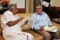 The Chief Minister of Kerala, Shri Oommen Chandy meeting the Union Minister for Road Transport & Highways, Dr. C.P. Joshi, in New Delhi on March 05, 2013.jpg