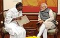 The Chief Minister of Puducherry, Shri N. Rangaswamy calling on the Prime Minister, Shri Narendra Modi, in New Delhi on March 16, 2015 (1).jpg